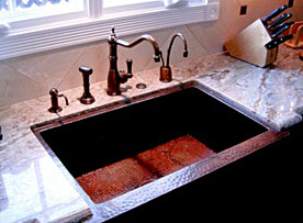Winfield Construction copper kitchensink