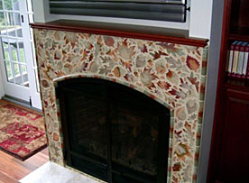 Winfield Construction fire place