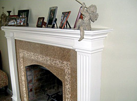 Winfield Construction custom hearth